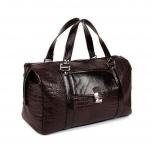 Дорожная сумка из натуральной кожи темно-коричневая, Новосибирск