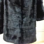 Продам шубу норковую-поперечка, черная, Новосибирск