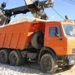 Доставка щебня, песка, земли, пгс, отсева и др, Новосибирск