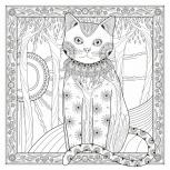 """Раскраска на холсте с деревянным подрамником """"Солнечная кошка"""", Новосибирск"""