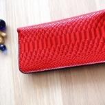 Женское портмоне из натуральной кожи, ручной работы, Новосибирск