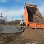 Щебень, отсев, песок, галька, земля, торф, бут, Новосибирск