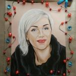 Портреты, картины цветными и акварельными карандашами по фото, Новосибирск