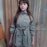 Продам плащ девичий, модного покроя, Новосибирск