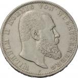 Вюртемберг 5 марок 1900 серебро, Новосибирск