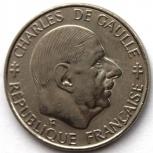 Франция 1 франк 1988 генерал Шарль де Голь, Новосибирск