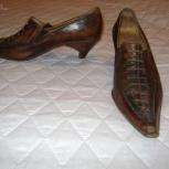 Продам женские туфли 37 кожа ручная работа Италия чуть б/у, Новосибирск
