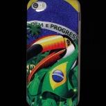 """Чехол """"Бразилия"""" для iPhone 5/5S, силиконовый, глянцевый, Новосибирск"""