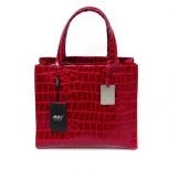 Яркая красная сумка, натуральная кожа под рептилию, Новосибирск