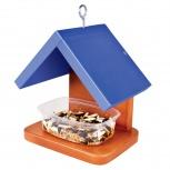 Птичий дом своими руками. Кормушка для птиц (с синей крышей), Новосибирск