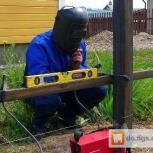 Новый забор. Заборы из профнастила не дорого. Цена на забор под ключ, Новосибирск