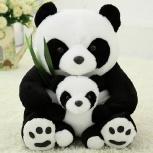 Панды Аврора от 30см + маленькая панда, Новосибирск