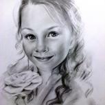 Портреты карандашом по фотографии на заказ, Новосибирск