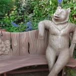 Скамейка с медведем, Новосибирск