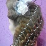 Причёски, локоны 3D, плетение кос, Новосибирск
