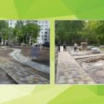 Укладка тротуарной плитки, брусчатки, Новосибирск