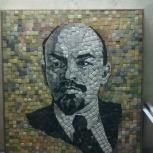 Ленин панно мозаика, Новосибирск