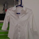 Продам белые блузки-рубашки, Новосибирск