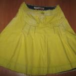 Юбка джинсовая жёлтая варёная Италия оригинал на 44-46 р, Новосибирск
