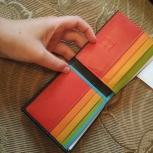 Разноцветный кожаный кошелек DuDu, Новосибирск