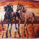 вышивка кони на закате, Новосибирск