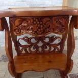 Эсклюзивный стол резной из натурального дерева, Новосибирск