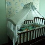 Бортики и балдахин на детскую кроватку, Новосибирск