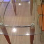 Продаю стол со стеклянной столешницей, Новосибирск
