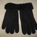 Перчатки новые из овчины 8 р. теплые можно на подростка, Новосибирск
