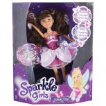Кукла Brilliance Fair с волшебной палочкой - Брюнетка в розовом платье, Новосибирск