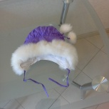 Продам шапочку зимнюю фиолетовую, Новосибирск