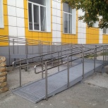 Пандус, пандусы для инвалидов. Металл, нерж. сталь, бетон, Новосибирск