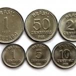 Бразилия набор из 6 монет, Новосибирск