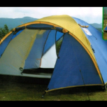 Палатка туристическая новая с тамбуром два слоя 3-4 местная, Новосибирск