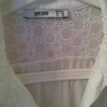 Блузка -рубашка белая с шитьём, р-44(46), Новосибирск