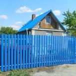 Забор из металлического штакетника, Новосибирск