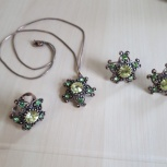 Новый набор бижутерии (подвеска, кольцо, сережки), Новосибирск