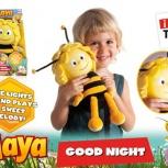 Ночник-мягкая игрушка Пчелка Майя со светом и звуком, Новосибирск