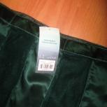 Юбка винтажная Principles/Англия 44 р. - бархат/шёлк, цвет изумрудный, Новосибирск