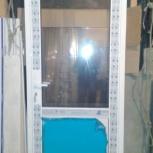 Входная алюминиевая дверь , стекло (правая), Новосибирск