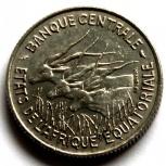 Экваториальная африка 100 франков 1966, Новосибирск