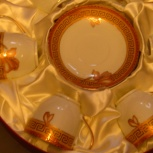 продам 6 чайных пар позолоченных. made in japan, Новосибирск