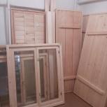 Банная дверь из липы и осины сосны под размер заказчика  м2, Новосибирск