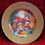 Тарелка декоративная ручной работы (декупаж), Новосибирск