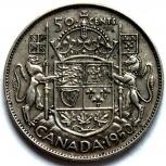 Канада 50 центов 1950 Серебро 3, Новосибирск