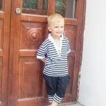 Легкий костюмчик в полоску для мальчиков от 2-х до 6-ти лет, Новосибирск