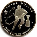 Канада 1 доллар 1993 Серебро. Хоккей, Новосибирск