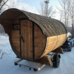 Баня - бочка из кедра  3м под ключ, Новосибирск