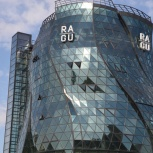 Мойка остекления фасадов зданий, Новосибирск