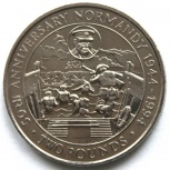 """Гернси 2 фунта 1994. День """"д"""". 50 лет высадке в Нормандии, Новосибирск"""